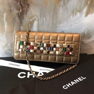Chanel Paris Byzance Bronze Jewel Runway Clutch